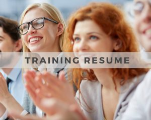 Training Resume